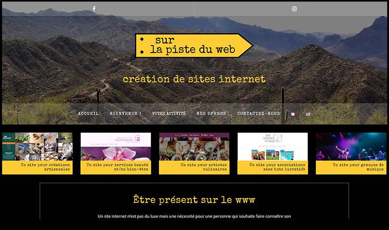 Plateforme web des 5 domaines d'activité